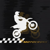 Fototapety Motocross drivers silhouette Grand Prix