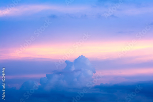colorful of sky with clouds in the twilight