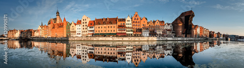 Cityscape of Gdansk with reflection