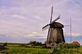Classic Vintage Windmill in Holland