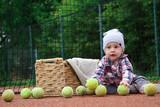 little boy and a tennis ball