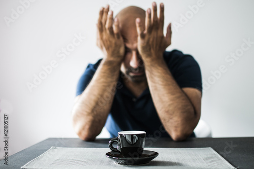 caffè e disperazione la mattina presto Poster