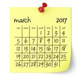 March 2017 - Calendar