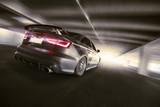 Fototapety schnelles Auto im Tunnel