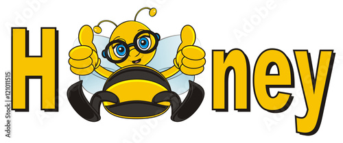 inscription, word, sit, show, cartoon, bee, wasp, striped, bug, insect, wings, yellow, wings, uly, honeycomb, honey, beekeeping, honey bee, happy, cute, funny,