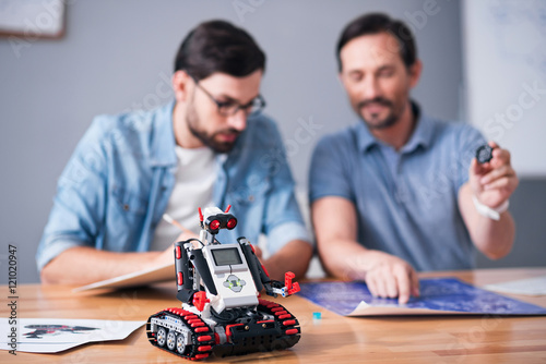 Poster Robot standing on the table