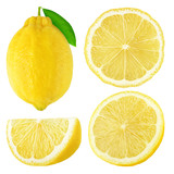 Isolated lemon fruits collection - 121024914