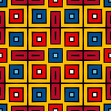 Bright ethnic abstract background. Seamless pattern with decorative ornament in african style.