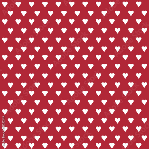 Seamless vector pattern with white hearts on pastel background - 121050349