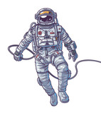 Vector illustration cosmonaut, - 121052106