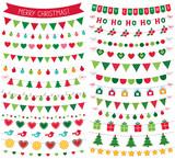 Christmas decoration, isolated design elements set