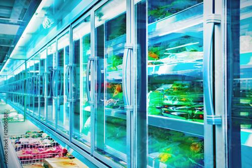 Keuken foto achterwand Boodschappen Food in a supermarket