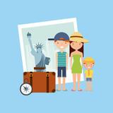 new york city holidays vector illustration design
