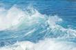 Beautiful teal ocean waves