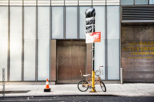Fotobehang New York manhattan lonely street