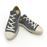 Convenient for sports mens sneakers. Presented on a white. 3D Illustration