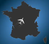France Airline, map
