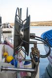 A gear train on a trawler