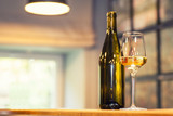 White wine in a bar