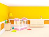 classic baby room orange