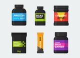 Sports nutrition vector set