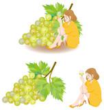 白ワインと女性