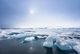 Icebergs at glacier lagoon