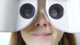 Look through optometry Phoropter close up 4K