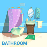 Bathroom Retro Design