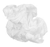 crumpled paper napkin isolated on white background