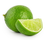 Whole and slice of lime