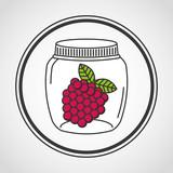 canned fruit in mason jar vector illustration design
