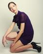 Fashion model. Posing in studio.