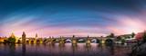 Panorama of Prague in sunset