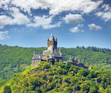 Cochem Imperial castle, The Reichsburg Cochem had its first documentary mention in 1130. In 1151, it was occupied by King Konrad III, who declared it an Imperial castle. Valley  Moselle River, Germany
