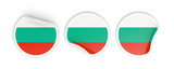 Flag of bulgaria, round labels
