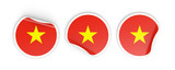 Flag of vietnam, round labels