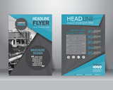 brochure flyer design template. vector