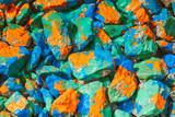 stones rubble closeup painted color ink