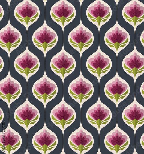 Fototapeta seamless vintage floral pattern