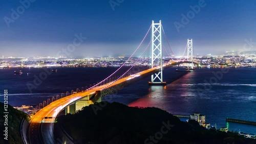 Akashi Kaikyo Bridge in Kobe, Japan.