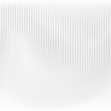 Fototapety Vector dotted monochrome pattern. Modern geometric texture in grey color. Halftone effect