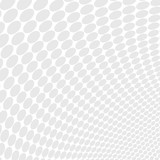 Vector dotted monochrome pattern. Modern geometric texture in grey color. Stylish tiles. Halftone effect