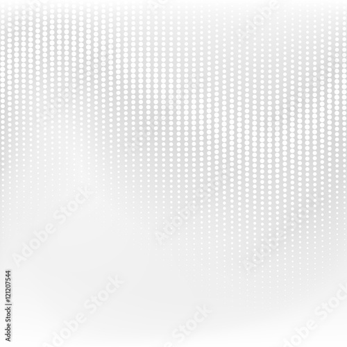 Fototapeta Vector dotted monochrome pattern. Modern geometric texture in grey color. Halftone effect
