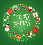 Merry Christmas Elements  : Vector Illustration