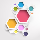 Fototapety Background of geometric shapes