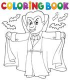 Coloring book vampire theme 2