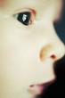 Adorable baby face closeup