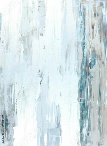 Turkusowy i beżowy malarstwo abstrakcyjne