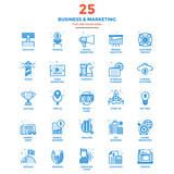 Modern Flat Line Color Icons- Business and Marketing - 121275153